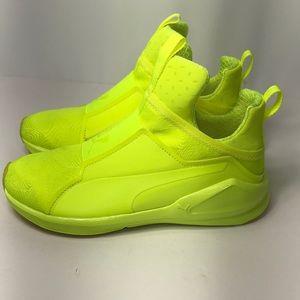 sale retailer d69b8 c3597 Puma Shoes - Puma Fierce Bright Neon Yellow Sneaker